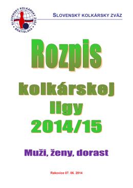Rozpis SKOZ - Slovenský kolkársky zväz