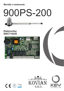 Montáž a nastavenie: 900CT
