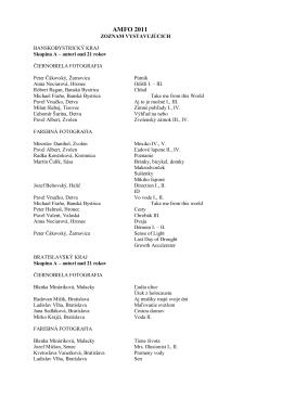 Zoznam vystavujúcich