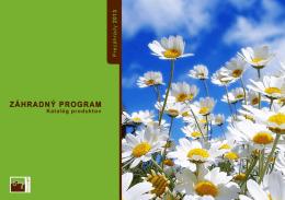 Katalóg záhradného sortimentu na sezónu 2013