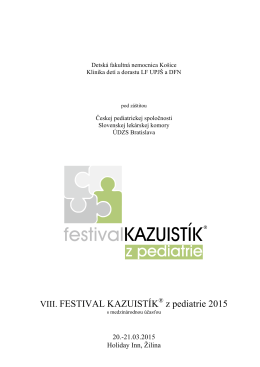 Program - kazuistika.sk