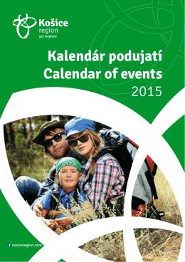 Kalendár podujatí Calendar of events 2015