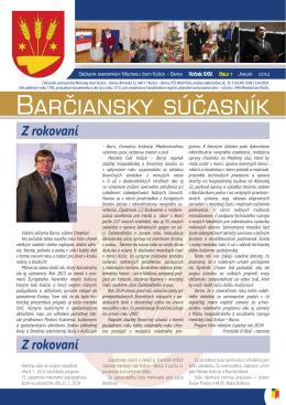 barčiansky súčasník - január 2014