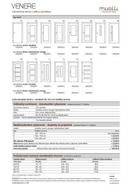 interiérové dvere s oblou zárubňou Požadované rozmery
