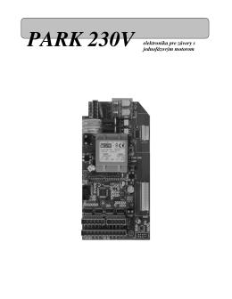 PARK 230V elektronika pre závory s jednofázovým motorom