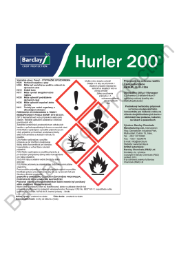 Hurler® Label - Barclay Chemicals