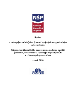 2010 - Národný štipendijný program