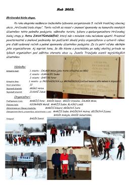 2013  - Horný Hričov