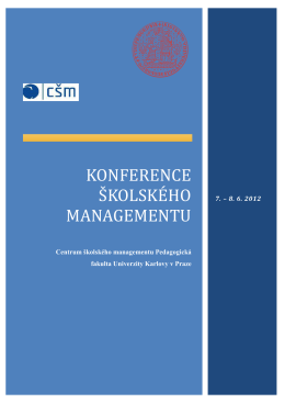 Konference školského managementu - Csm