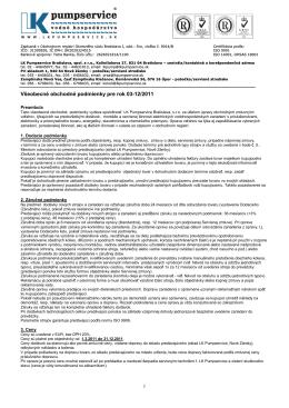 Všeobecné obchodné podmienky pre rok 03-12