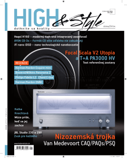 HIGH&STYLE Winter-2014 cover
