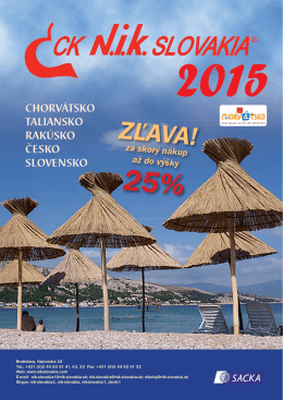 Katalóg 2015 - Nik Slovakia