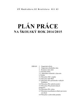Plán práce pre rok 2014/2015 [PDF, 559kB]