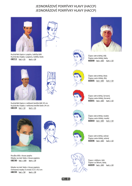 JEDNORÁZOVÉ POKRÝVKY HLAVY (HACCP) JEDNORÁZOVÉ
