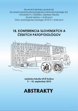 18. konferencia slovenských a českých patofyziológov