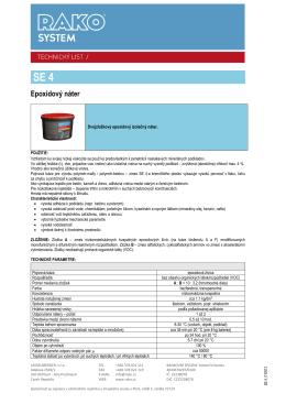 Epoxidový izolačný náter SE 4 (pdf, 301 kB)