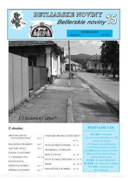 Betliarske noviny č. 15 (2010)