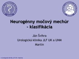 Neurogénny močový mechúr