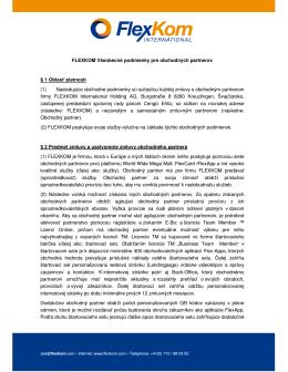 FLEXKOM Všeobecné podmienky pre obchodných partnerov § 1