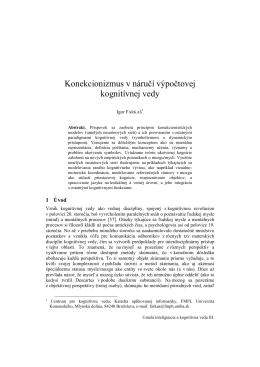 Konekcionizmus v náručí výpočtovej kognitívnej vedy