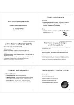 Stanovenie hodnoty podniku, Finančná analýza, Finančné plánovanie