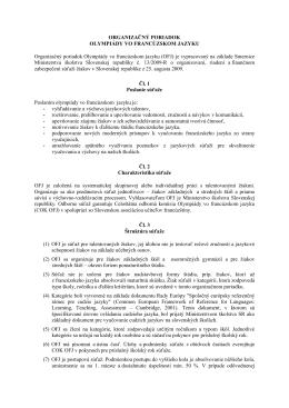 Organizačné pokyny OFJ