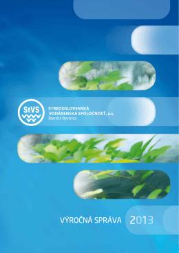 Výročná správa - Stredoslovenská vodárenská spoločnosť