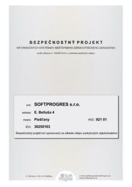 Bezpečnostný projekt - DEMO - Vzor projektu