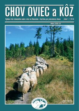 Číslo 01/2014 - Zväz chovateľov oviec a kôz na Slovensku