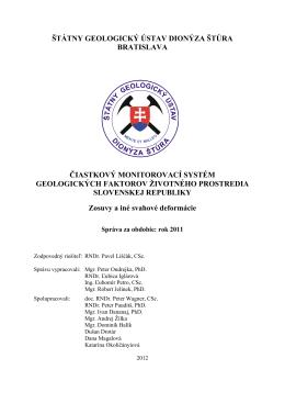hodnotenie monitorovania za rok 2011 v subsystéme 01