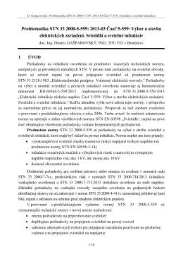 Problematika ST 33 2000-5-559: 2013-03 Časť 5-559 - SEZ-KES