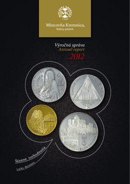 rok 2012 - Mincovňa Kremnica