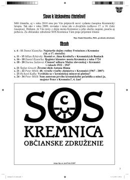 Kremnický letopis 1-2/2010