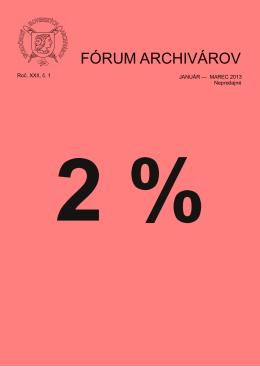 FÓRUM ARCHIVÁROV - Spoločnosť slovenských archivárov