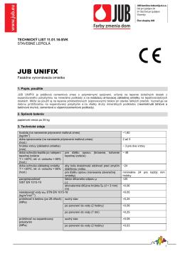 Technický list JUB UNIfix