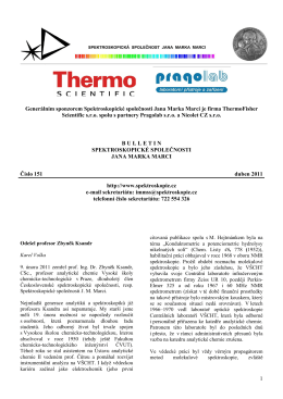 Bulletin č. 151 - Spektroskopická společnost Jana Marka Marci