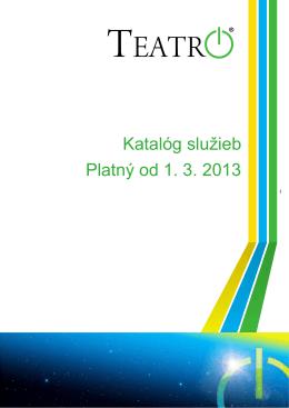 Platný nový cenník k službám od 1.3.2013