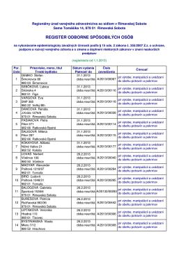 Zoznam osob rok 2013 - RUVZ so sídlom v Rimavskej Sobote