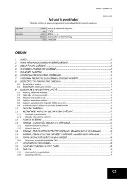 Návod k používání OBSAH CZ