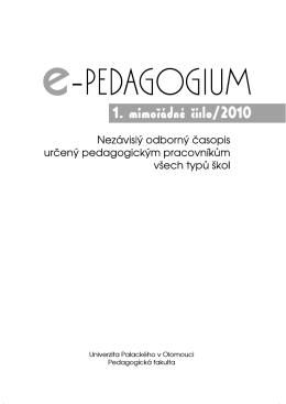 článek - Pedagogická fakulta - Univerzita Palackého v Olomouci