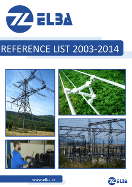 REFERENCE LIST 2003-2014