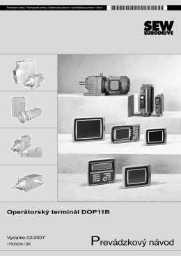 DOP11B riadiace terminály / Návod na použitie - SEW