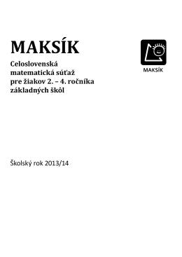 MAKSÍK - úvodná brožúra 13