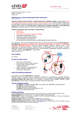 Zálohovanie a ochrana firemných dát a informácií.
