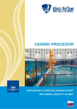 Cenník proCedúr - Danubius Hotels Group