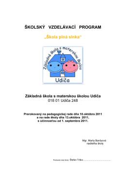 Školský vzdelávací program základnej školy