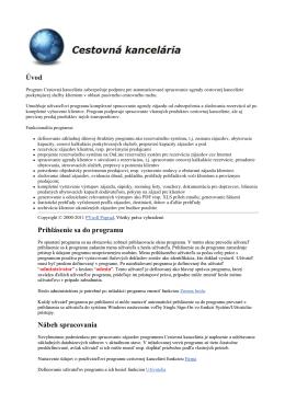 Manuál-popis CK9.0