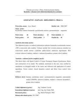 DIPLOMOVÁ PRÁCA - Žilinská univerzita