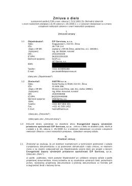 Zmluva o dielo - EIP services, sro