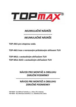 TOPmax TOP-AKU inox, TOP-AKU, TOP-MUL